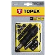 Отвертка с трещоткой TOPEX 22 предмета