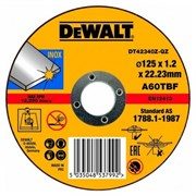 Диск абразивный DeWalt INDUSTRIAL 125*1,2*22,2 металл DT 42340Z-QZ